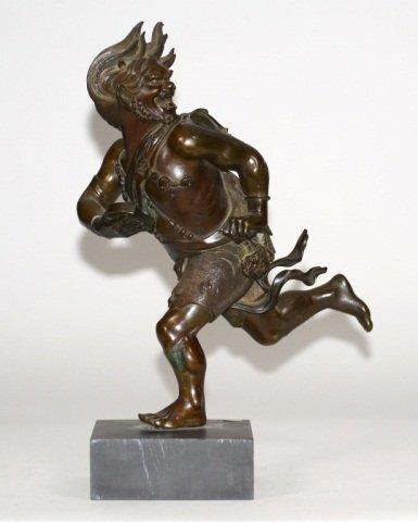 Japanese Bronze Running Oni