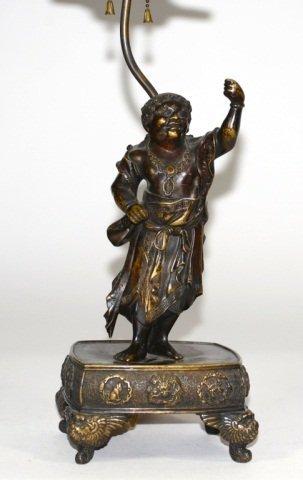 Japanese Bronze Sage on Stand
