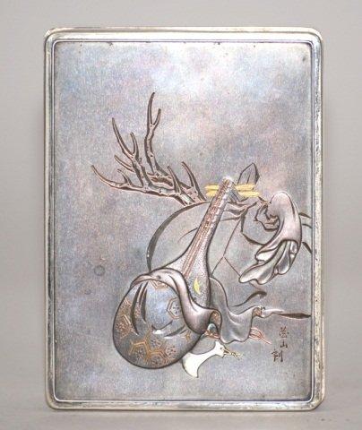 Japanese Mixed Metal Silver Box