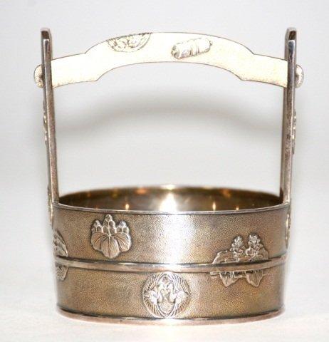 Fine Japanese Silver Basket