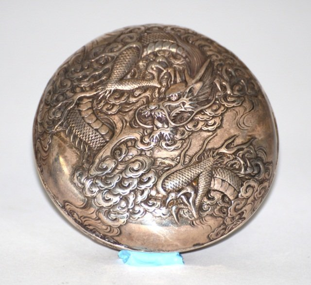 Japanese Silver Dragon Box