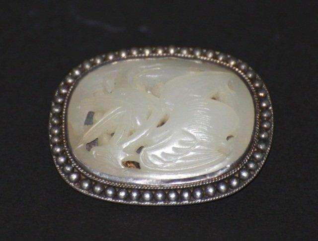 Chinese White Jade Pin