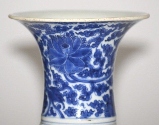 Chinese Kangxi blue White Porcelain Yen Yen Vase - 3
