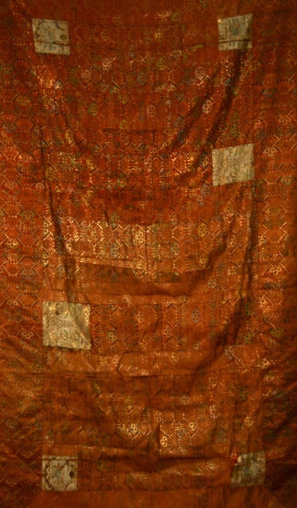 Chinese Qing Monk Silk Fabric Panel