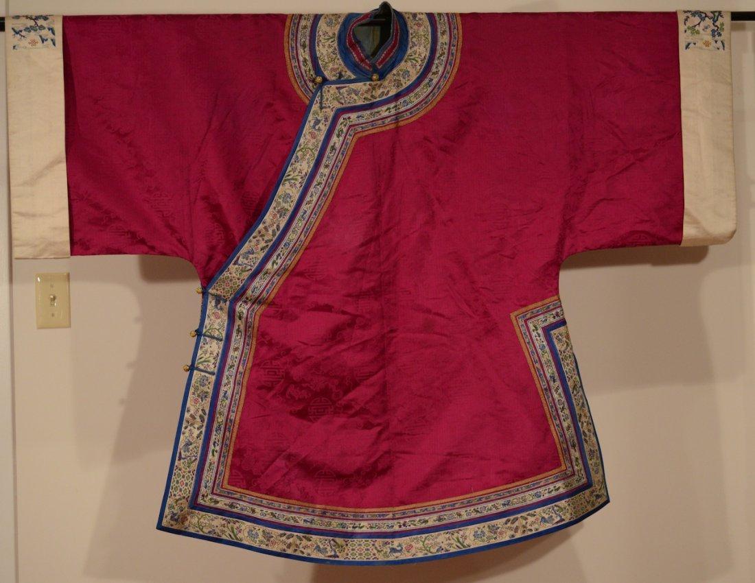 "Chinese Purple Lady""s Silk Brocade Robe"