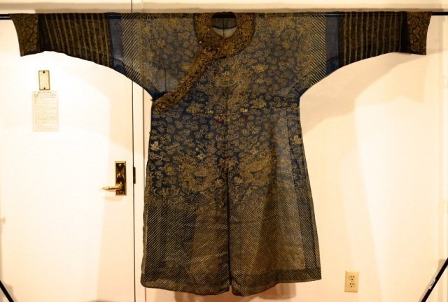 Chinese Summer Silk Brocade Dragon Robe