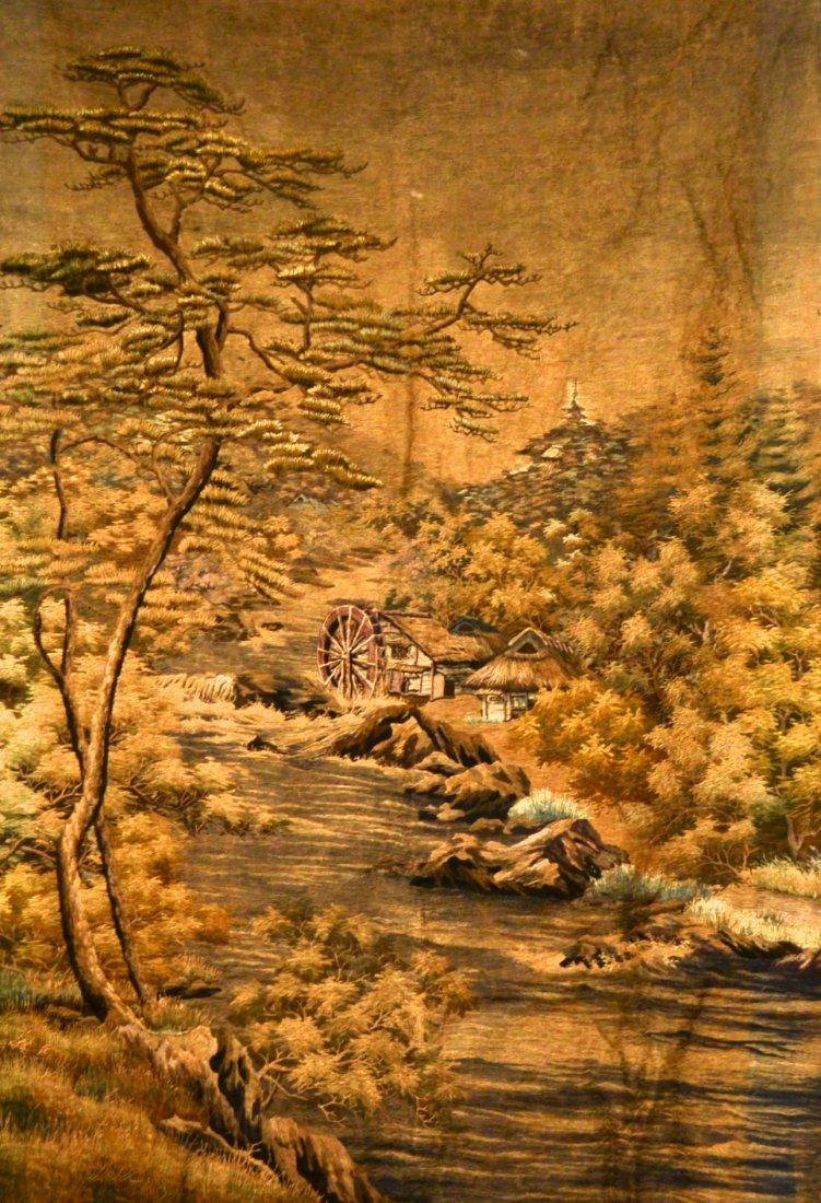 Japanese Landscape Silk Embroidery