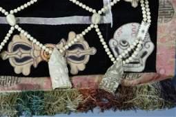 Tibetan Ritual Bone Apron with Embroidery Thangka