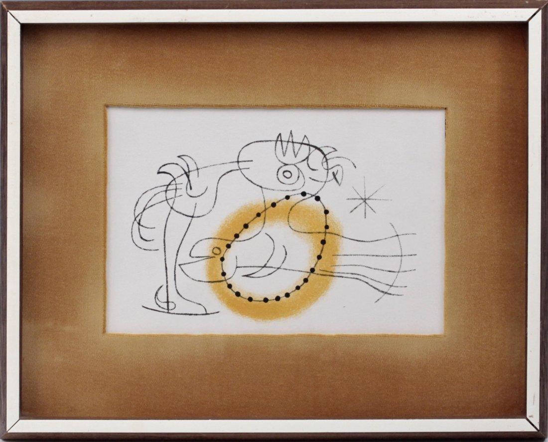 Joan Miro (1893-1983) Spanish/French 1956 Maeght Paris