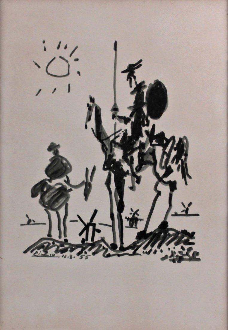 Pablo Picasso (1881-1973) 1955 Don Quixote Lithograph
