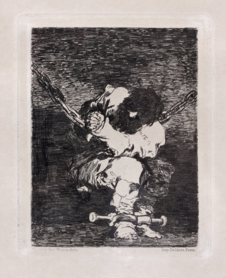 Francisco Goya (1746-1828) Spanish Antique Etching 1867
