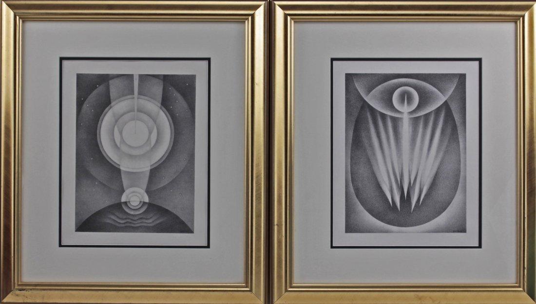 Emil James Bisttram (1895-1976) Hung/Amer 2 Lithographs