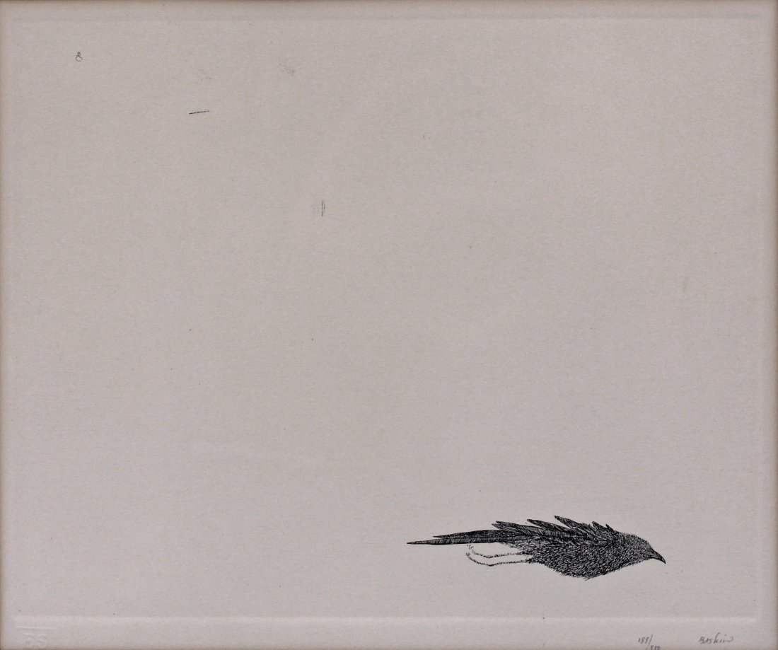 Leonard Baskin (1922-2000) American Signed Bird Etching