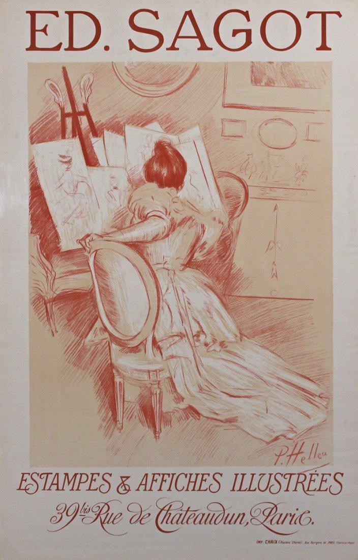 Paul Cesar Helleu (1859-1927) French C1901 Sagot Poster