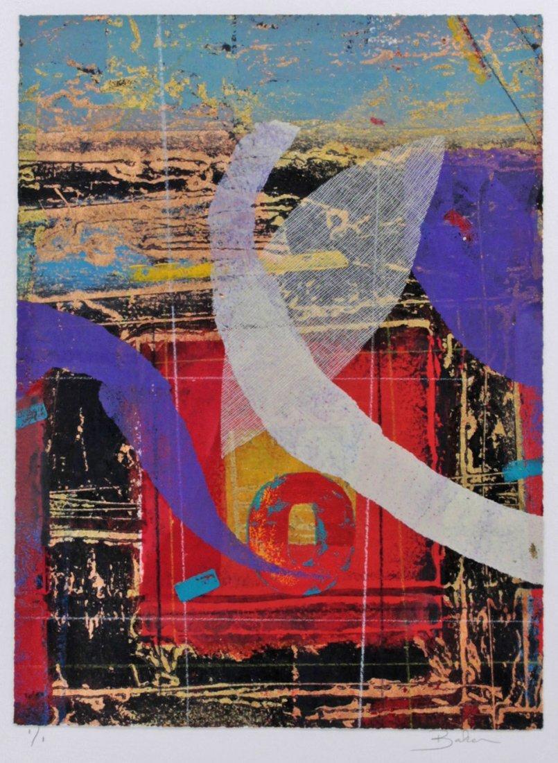 Baker (20th Century) Amer Signed Silkscreen Abstract