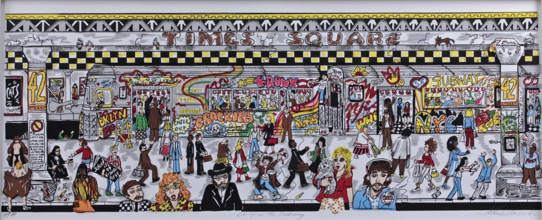 Charles Fazzino (B1955) Amer Artist Proof 3D NYC Subway