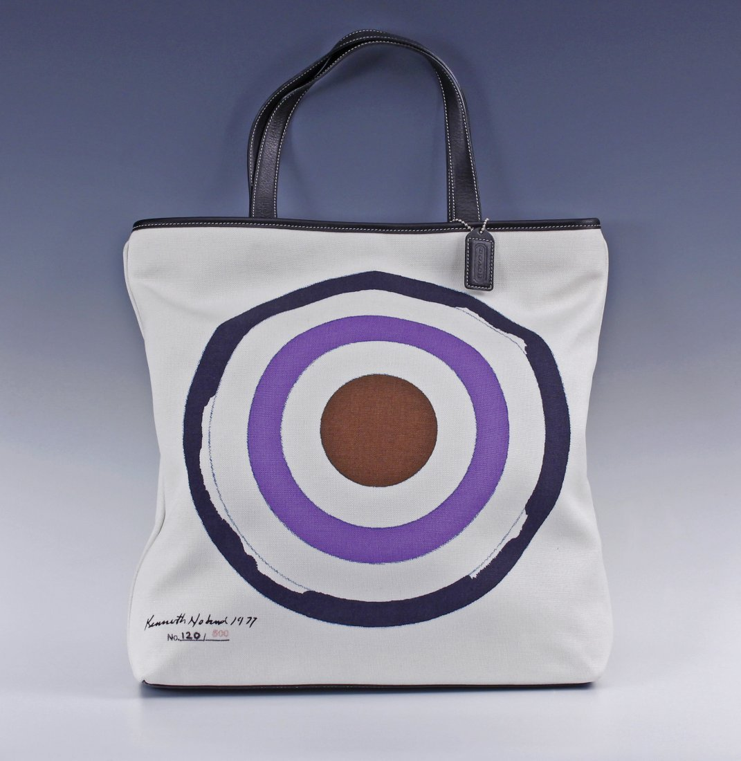 Kenneth Noland (1924-2010) Amer 1977 Signed Coach Tote