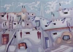 Katalin Ehling (B 1941) Hung/Amer Santa Fe Watercolor