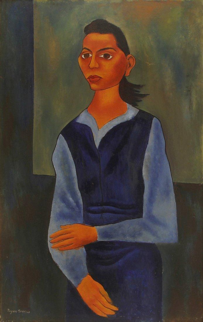 Byron George Byron Browne Expressionist Frida Kahlo O/C