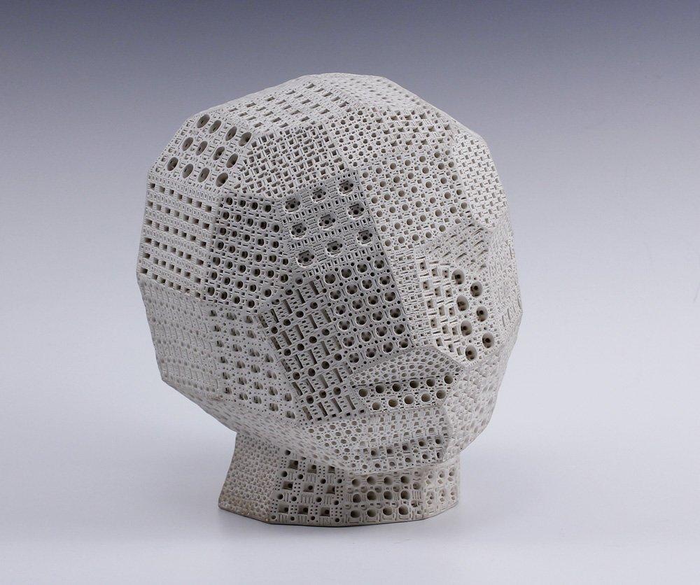 Alexander Ney (B 1939) Russian Cubist Head Sculpture