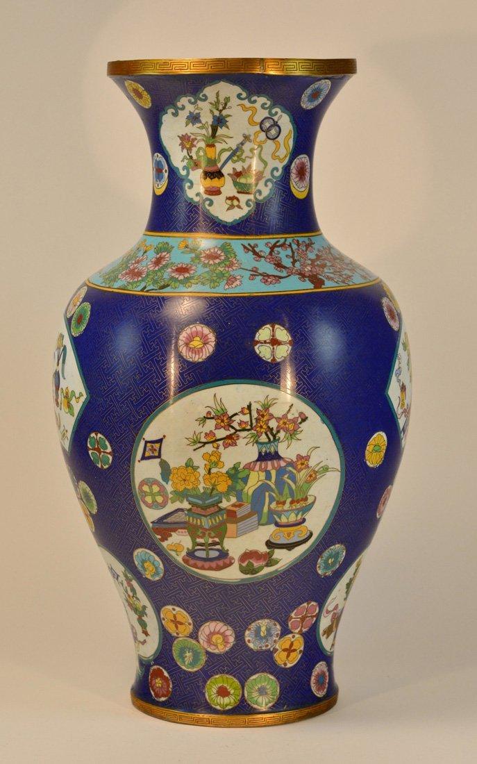 Large Chinese Cloisonne Floor Vase