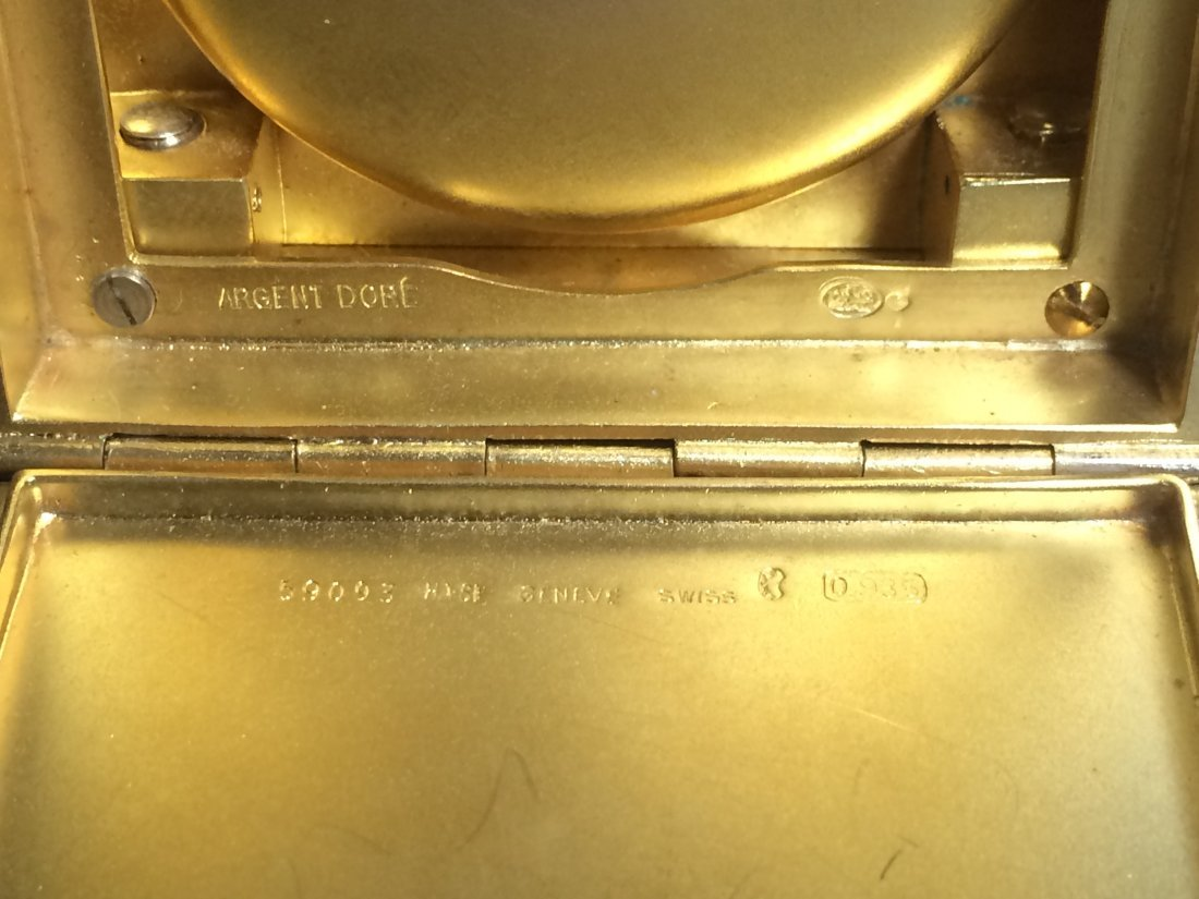 Important Swiss Desk Clock with Diamonds by HAAS, Co - 9