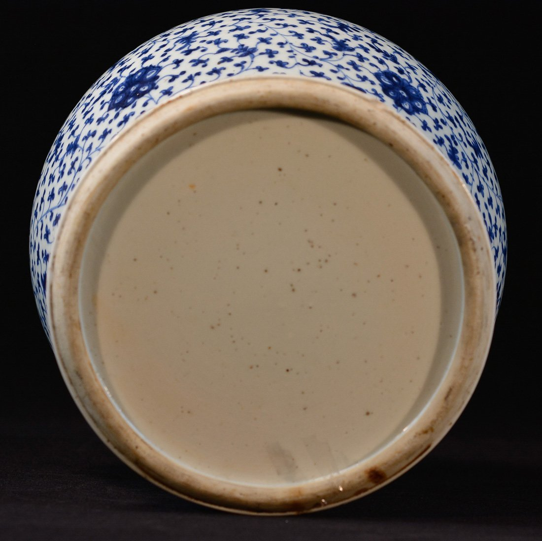 Chinese Blue White Porcelain Blauster Jar with Wood - 6