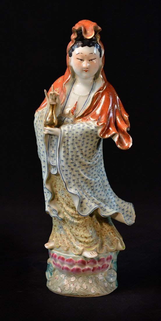 Chinese Standing Porcelain Kuanyin