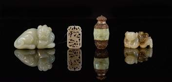 Group of Four Chinese Jade Articles