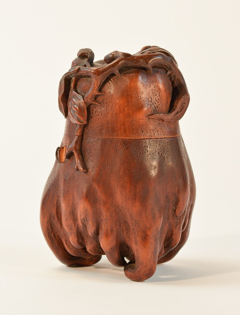 Chinese Qing Period Carved Wood Buddha Hand Fruit