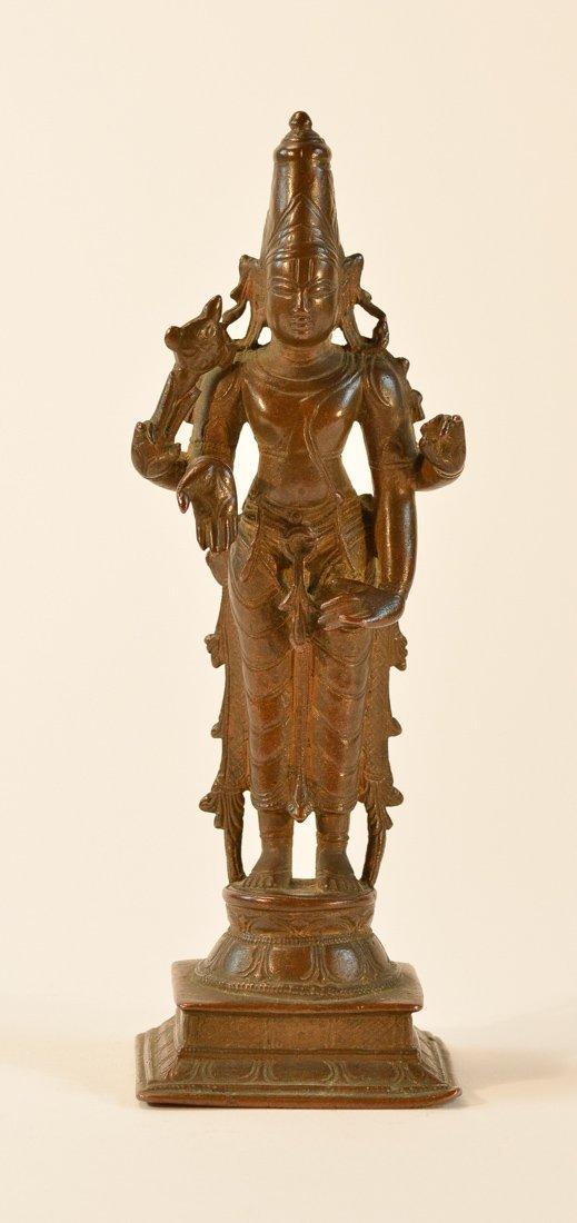 Indian Bronze Standing Shiva