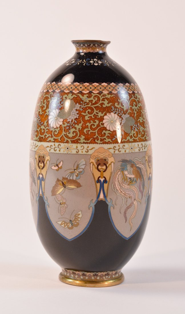 Japanese Cloisonné Vase of Ando Jubei Workshop