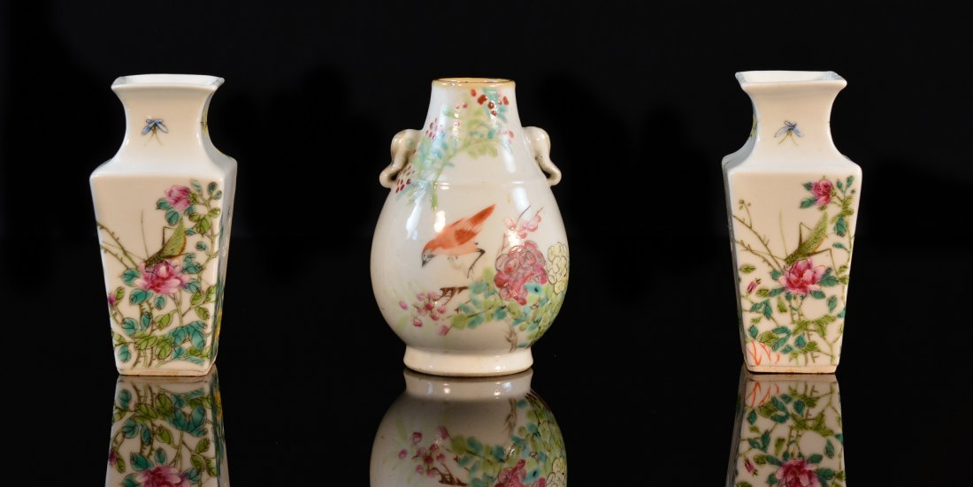 Three Chinese Porcelain Vases
