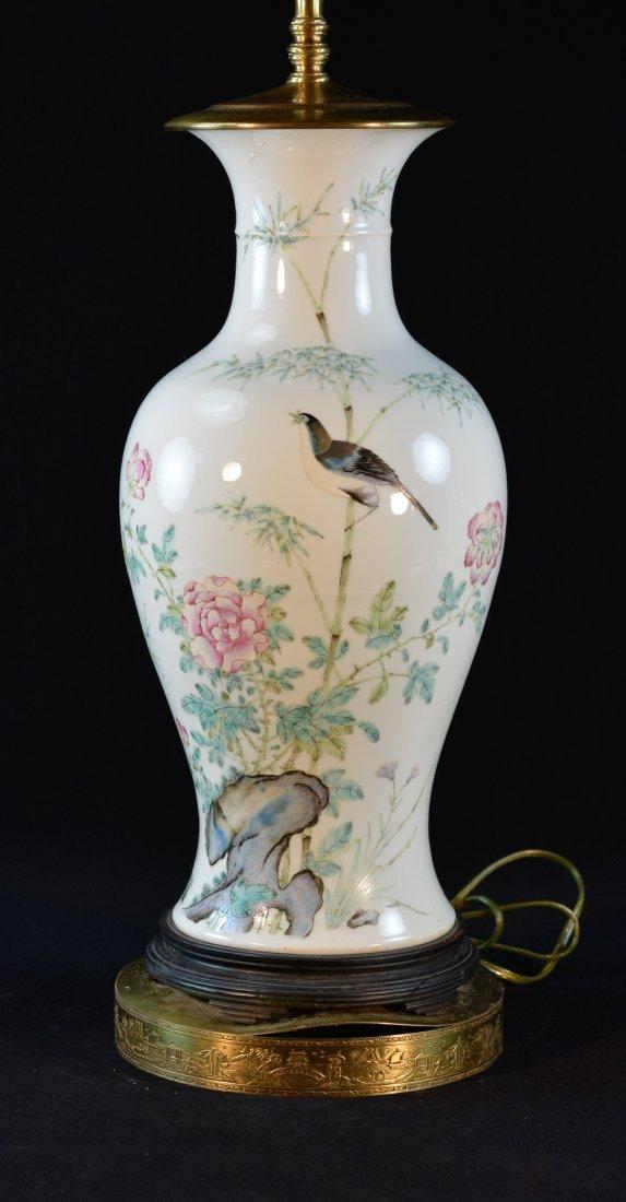 Chinese Famille Rose Porcelain Blauster Vase