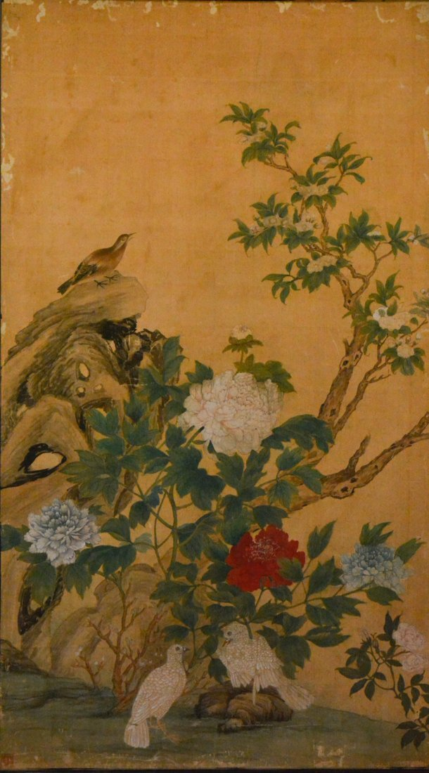Chinese Painting of Peony and Bird