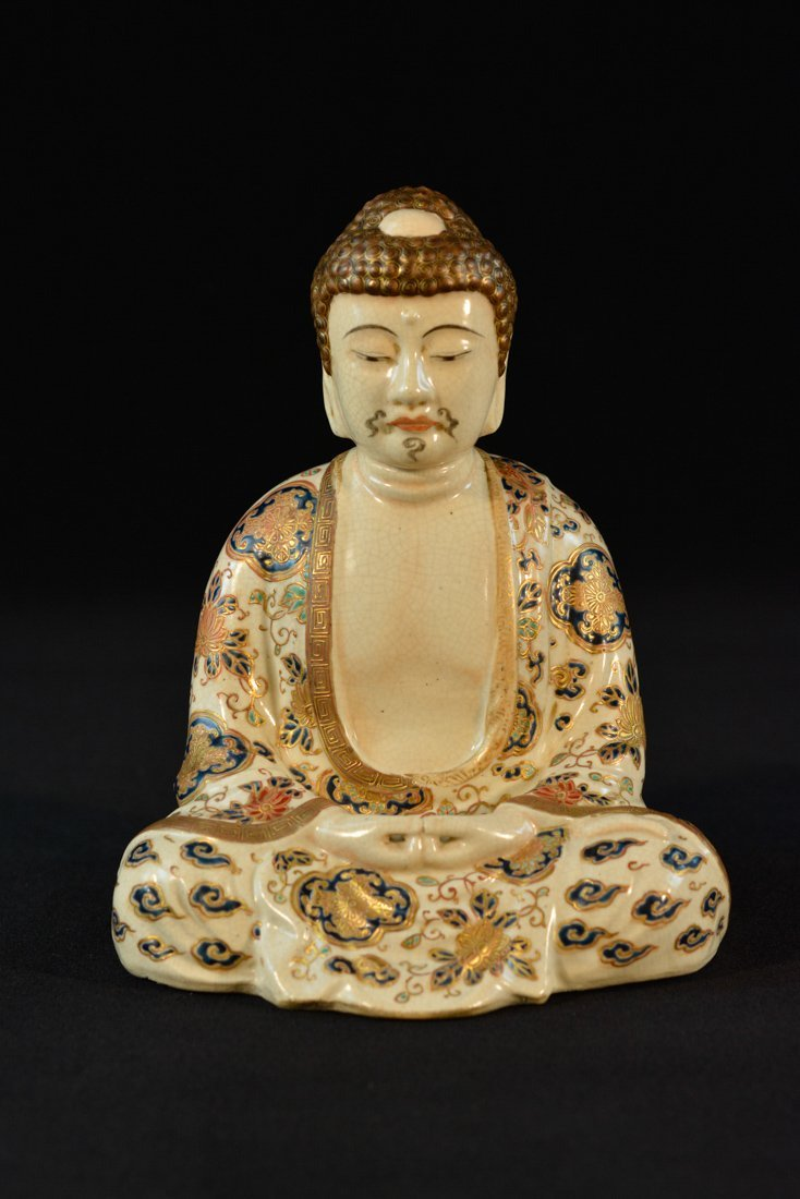 Japanese Satsuma Seated Buddha