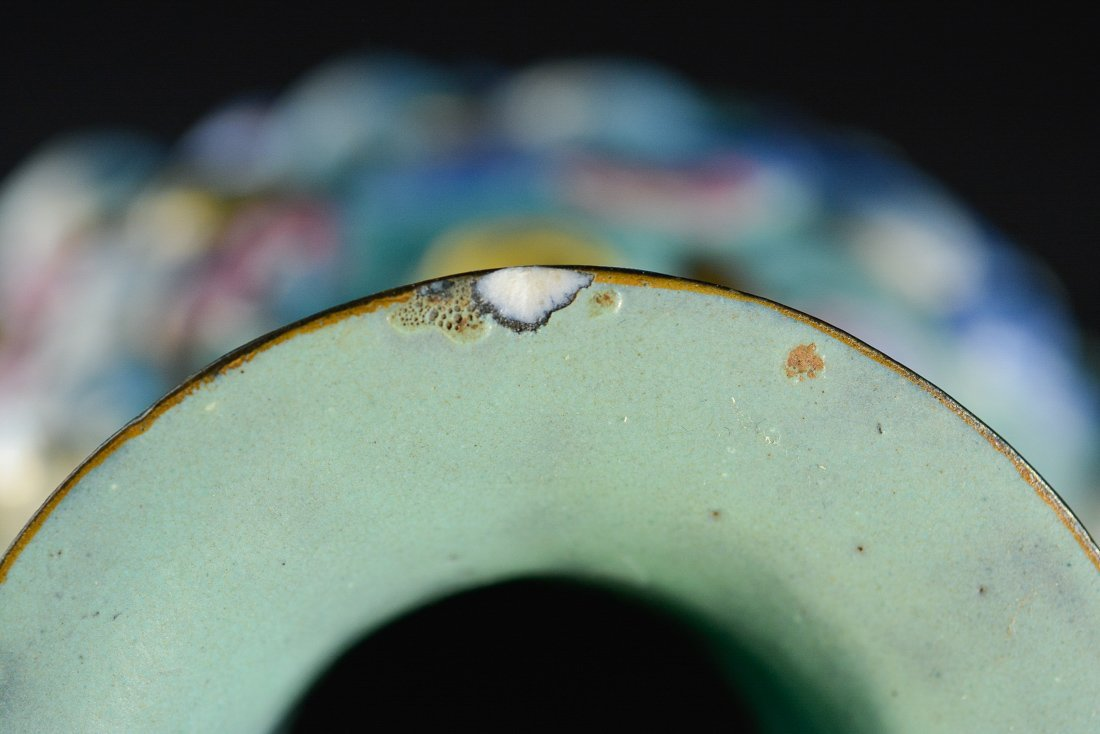 Chinese Famille Rose Porcelain Vase with Lohan Scene - 7