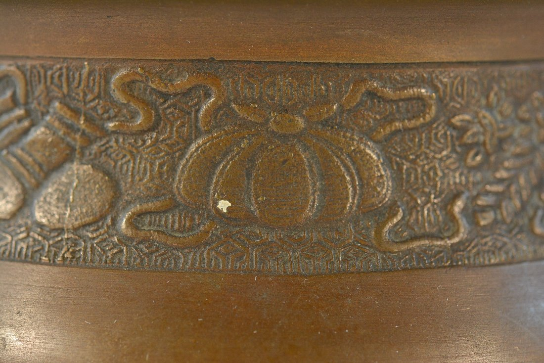 Chinese Bronze Censer with Chased Detail - 2