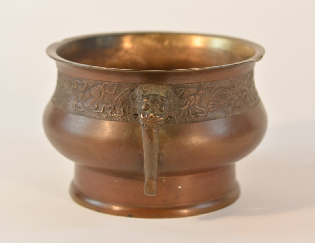 Chinese Bronze Censer with Chased Detail - 5