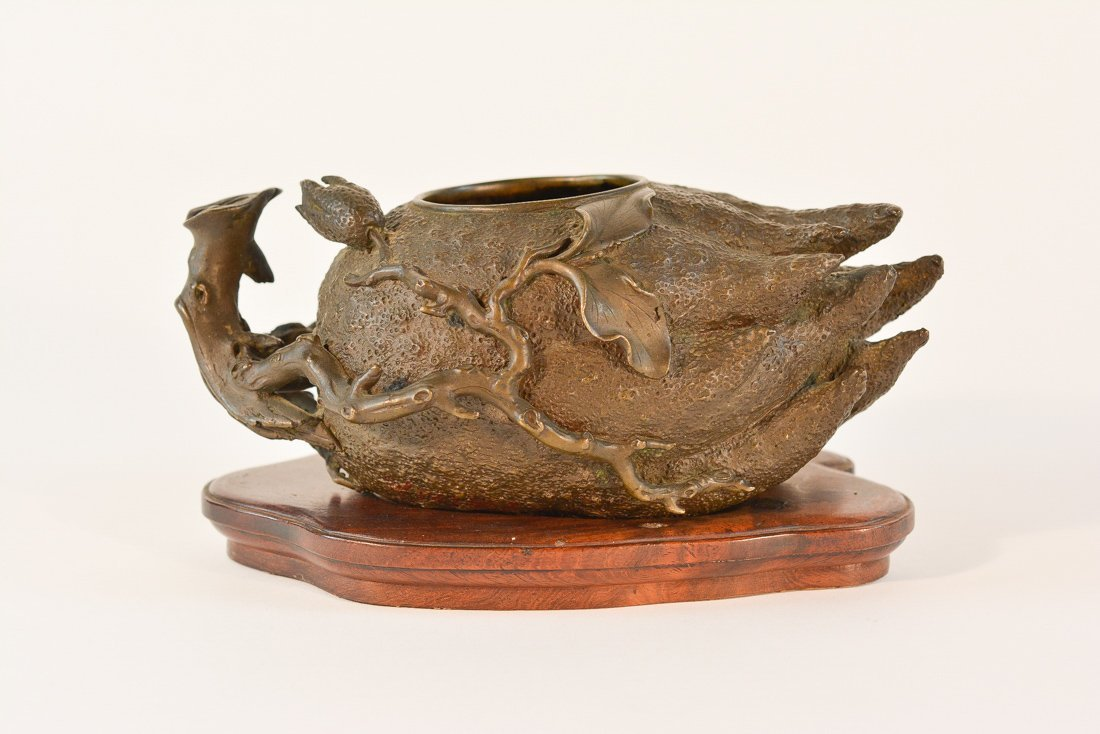 Chinese Bronze Censer in Shape of Buddhist Hand Fruit