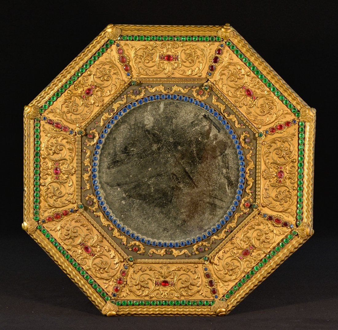 Unusual Gilt Bronze Mirror of Chinese Market