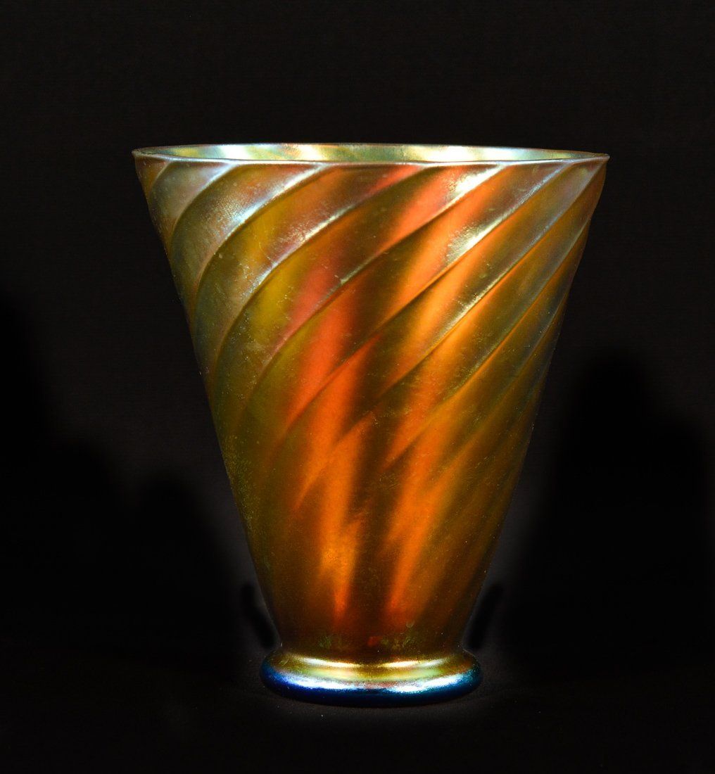 Tiffany Art Glass with a Swirl Design