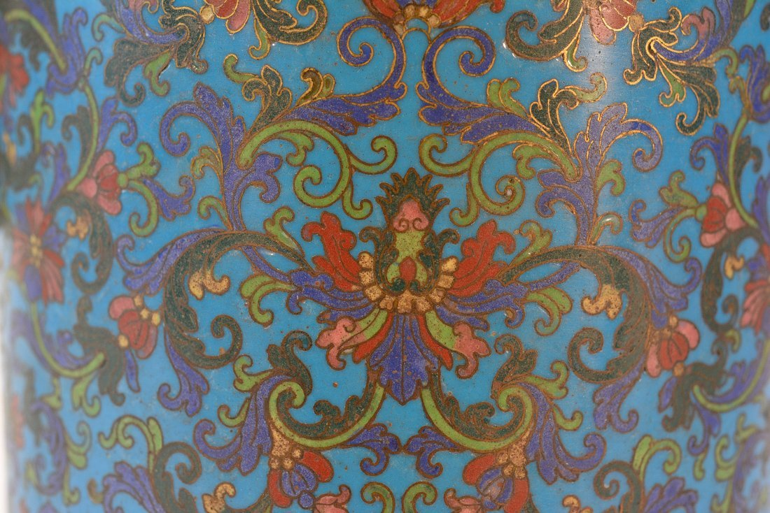 Chinese Imperial Cloisonne Censer with Chasing Detail - 4