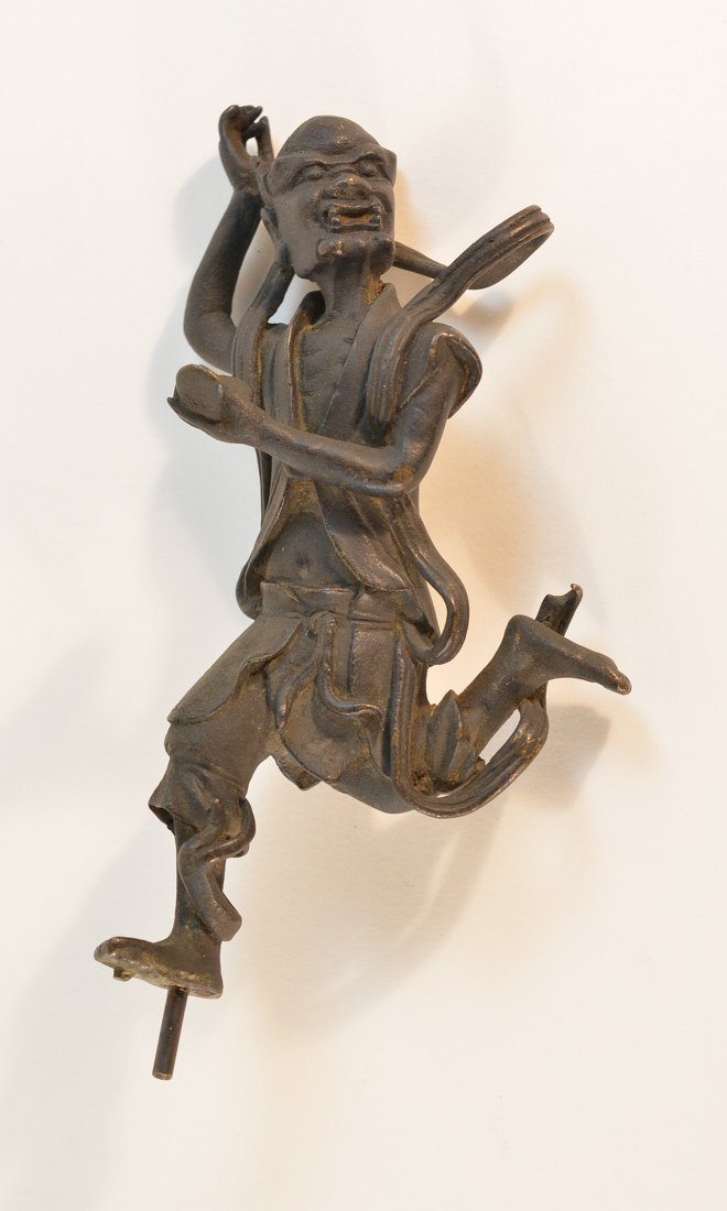 Chinese Ming Bronze Sculpture of Kui Xing