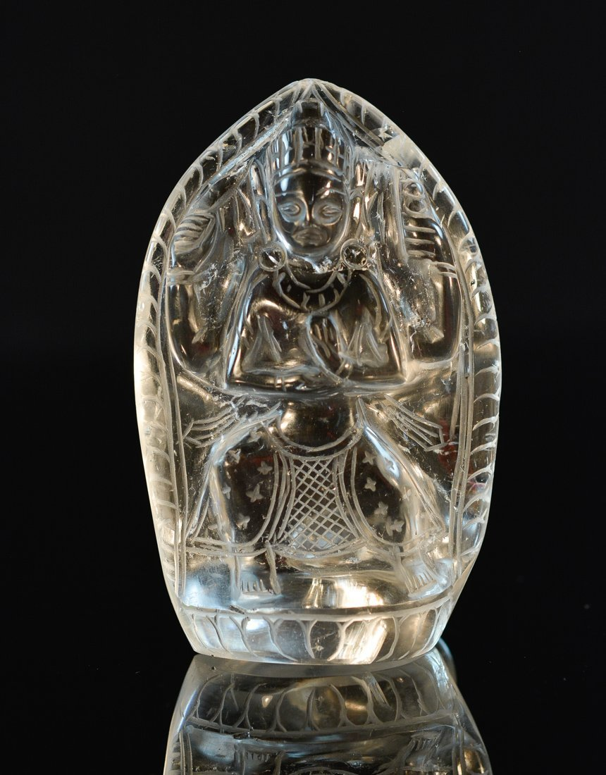 Chinese Carved Rock Crystal Buddha