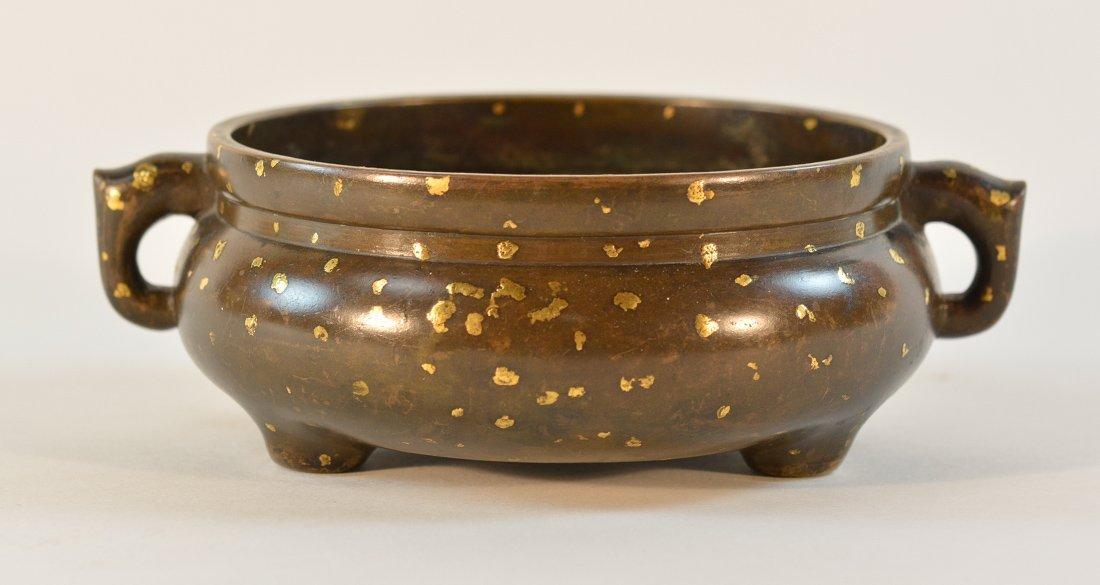Chinese Gold Splash Bronze Censer