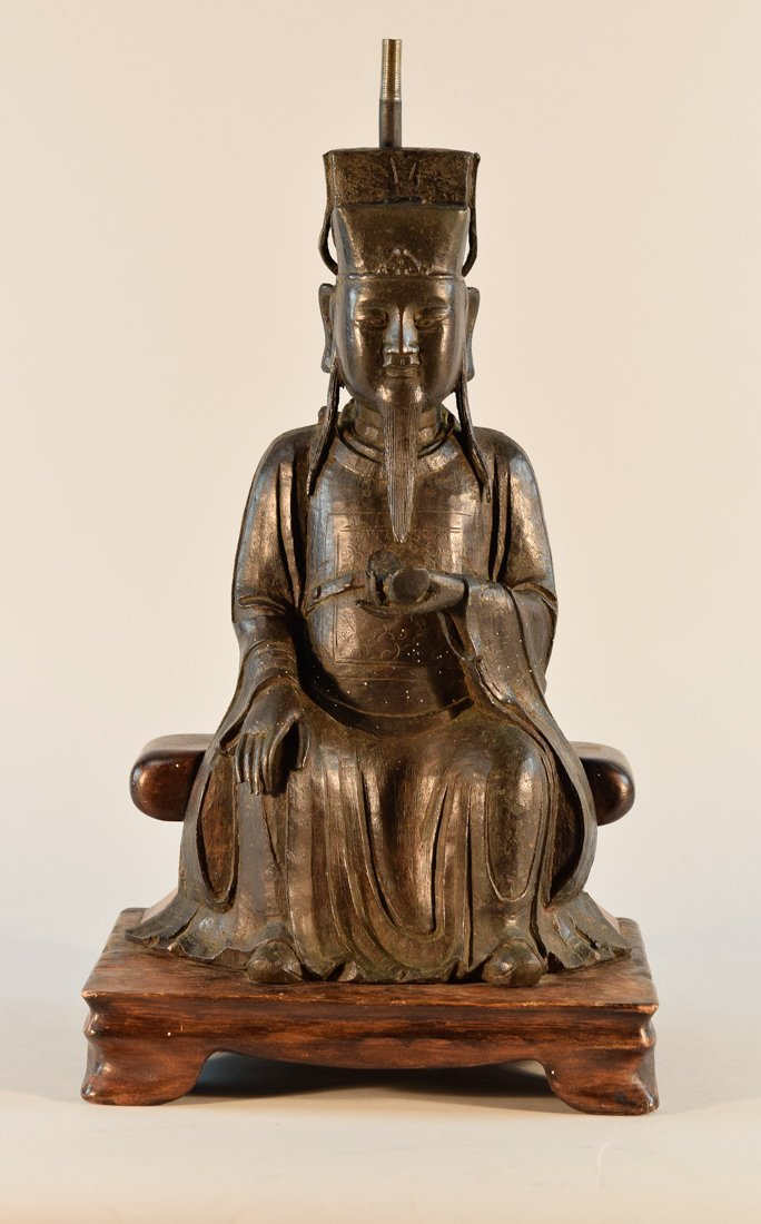 Chinese Ming Seated Bronze Figurine