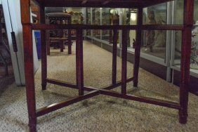 Chinese Rosewood Mahjong Table On Stand