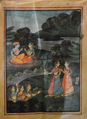 Indian Painting On Silk