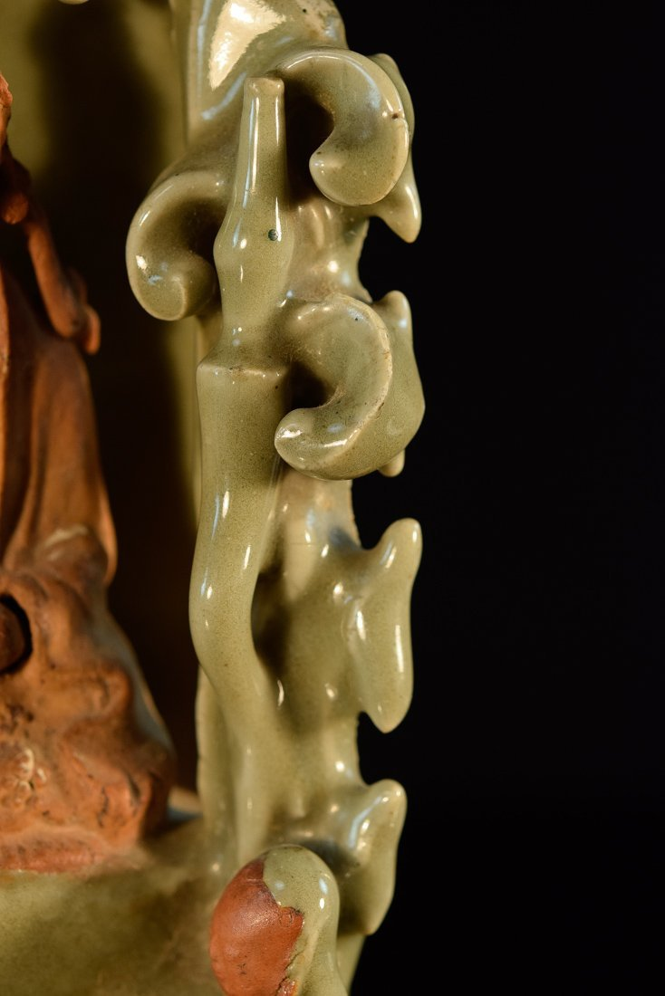 Chinese Early Ming Celadon Porcelain Kuanyin - 5